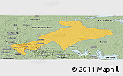 Savanna Style Panoramic Map of Sekyere