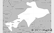 Gray Simple Map of Sekyere