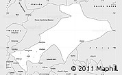 Silver Style Simple Map of Sekyere