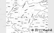 Blank Simple Map of Ashanti