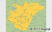 Savanna Style Simple Map of Ashanti