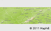 Physical Panoramic Map of Tepa