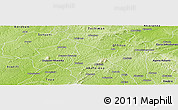 Physical Panoramic Map of Bechem