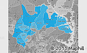 Political Shades Map of Brong Ahafo, desaturated