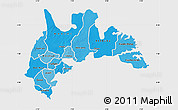 Political Shades Map of Brong Ahafo, single color outside
