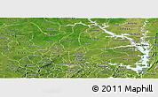 Satellite Panoramic Map of Brong Ahafo