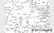 Blank Simple Map of Brong Ahafo