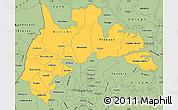 Savanna Style Simple Map of Brong Ahafo