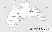 Silver Style Simple Map of Brong Ahafo, cropped outside