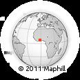 Outline Map of Sunyani