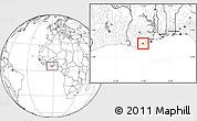 Blank Location Map of Abura
