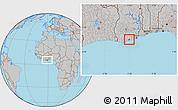 Gray Location Map of Abura