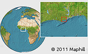 Satellite Location Map of Abura
