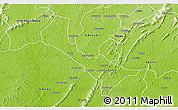 Physical 3D Map of Denkyira