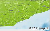 Physical 3D Map of Gomoa-Assin-Ajumako