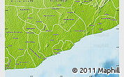 Physical Map of Gomoa-Assin-Ajumako