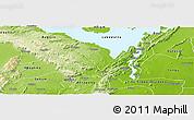 Physical Panoramic Map of Manya Krobo