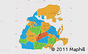 Political Map of Eastern, cropped outside