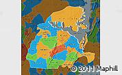 Political Map of Eastern, darken