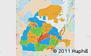 Political Map of Eastern, lighten