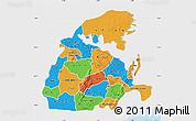 Political Map of Eastern, single color outside