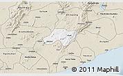 Classic Style 3D Map of Nsawam-Aburi
