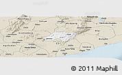 Classic Style Panoramic Map of Nsawam-Aburi