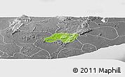 Physical Panoramic Map of Nsawam-Aburi, desaturated