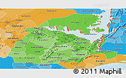 Political Shades Panoramic Map of Eastern