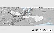 Gray Panoramic Map of Yilo-Krobo-Osudoku