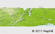 Physical Panoramic Map of Yilo-Krobo-Osudoku
