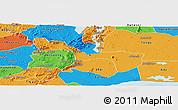 Political Panoramic Map of Yilo-Krobo-Osudoku
