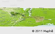 Satellite Panoramic Map of Yilo-Krobo-Osudoku, physical outside