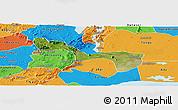 Satellite Panoramic Map of Yilo-Krobo-Osudoku, political outside
