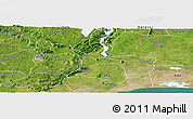 Satellite Panoramic Map of Yilo-Krobo-Osudoku