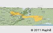 Savanna Style Panoramic Map of Yilo-Krobo-Osudoku