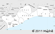 Silver Style Simple Map of Greater Accra