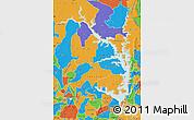 Political Map of Lake Volta