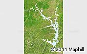 Satellite Map of Lake Volta