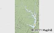 Savanna Style Map of Lake Volta