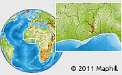 Physical Location Map of Lake Volta