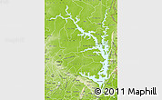 Physical Map of Lake Volta