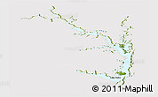 Satellite Panoramic Map of Lake Volta, cropped outside