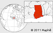 Blank Location Map of Ghana