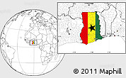 Flag Location Map of Ghana, blank outside