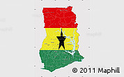 Flag Map of Ghana