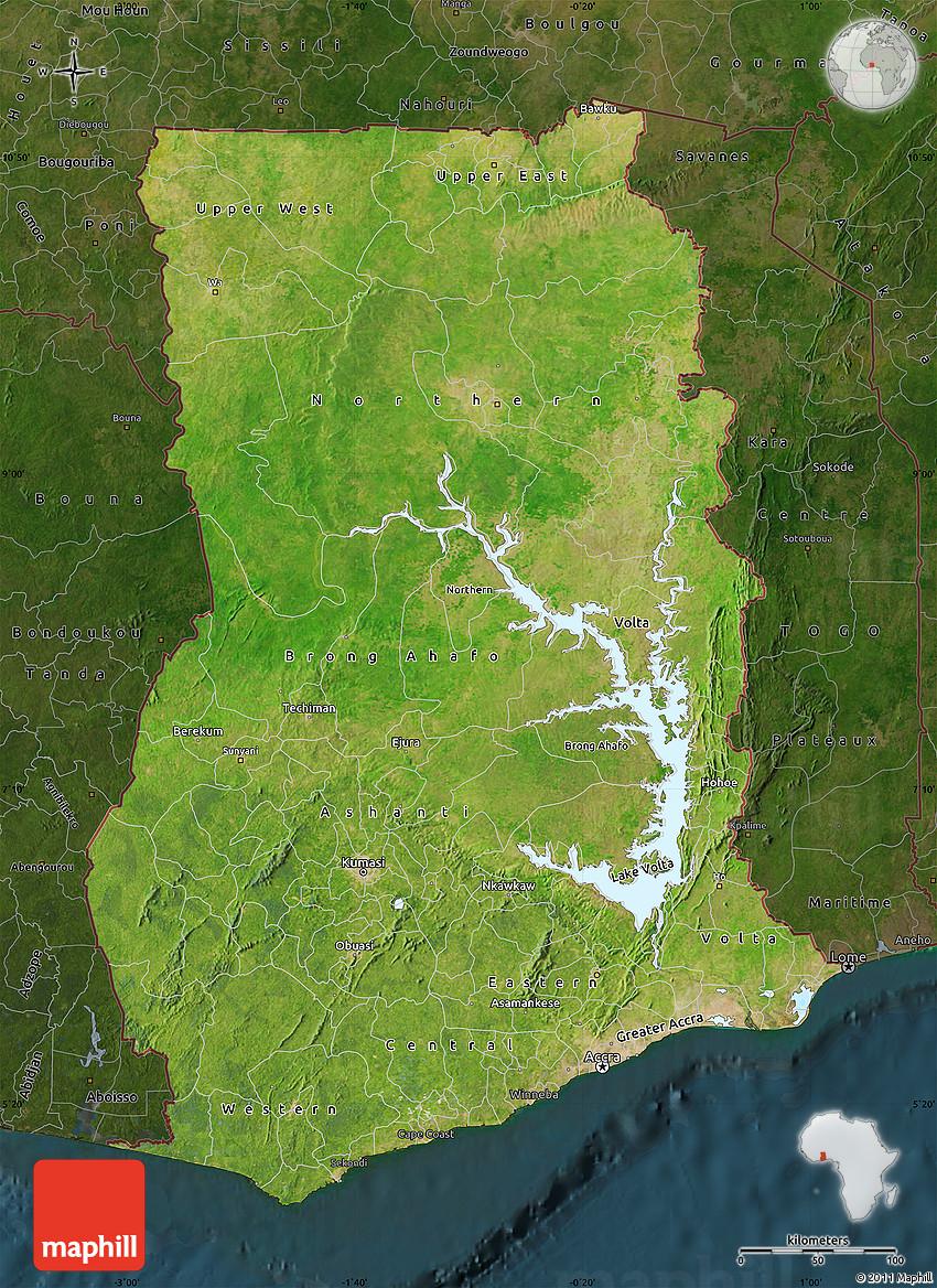 Satellite Map of Ghana, darken on towns and villages in ghana, swedru ghana, city of ghana, apartments in ghana, satellite view of ghana, satellite map kenya, republic of ghana, district in volta ghana, food of ghana, capital of ghana, western ghana, eastern region ghana, akuse ghana, street view of ghana, aerial view of ghana, nzema ghana, volta region ghana, russia of ghana, fashion of ghana, village of ghana,