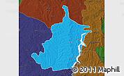 Political Map of Bimbilla, darken