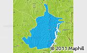 Political Map of Bimbilla, physical outside