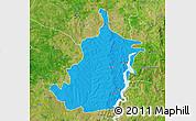 Political Map of Bimbilla, satellite outside